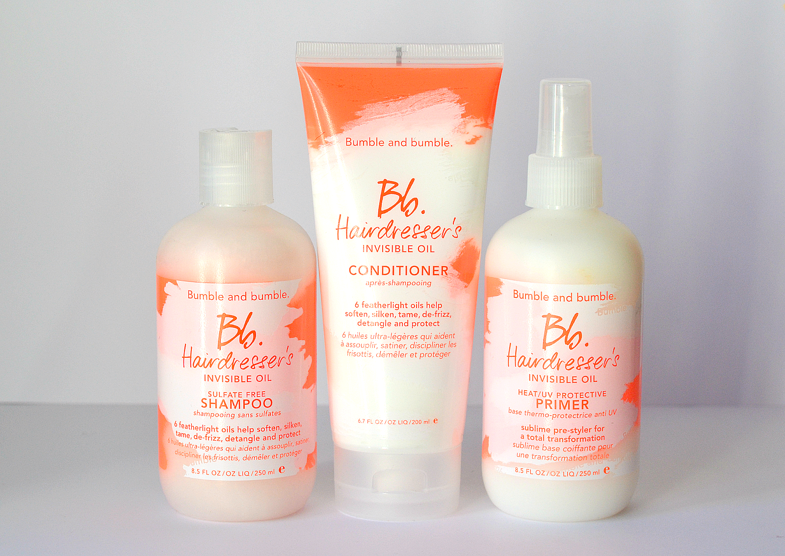 Bumble & Bumble Hairdresser's Invisible Oil Primer, Shampo, Conditioner 1